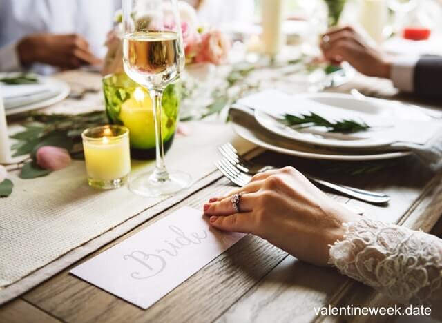 romantic dinner image